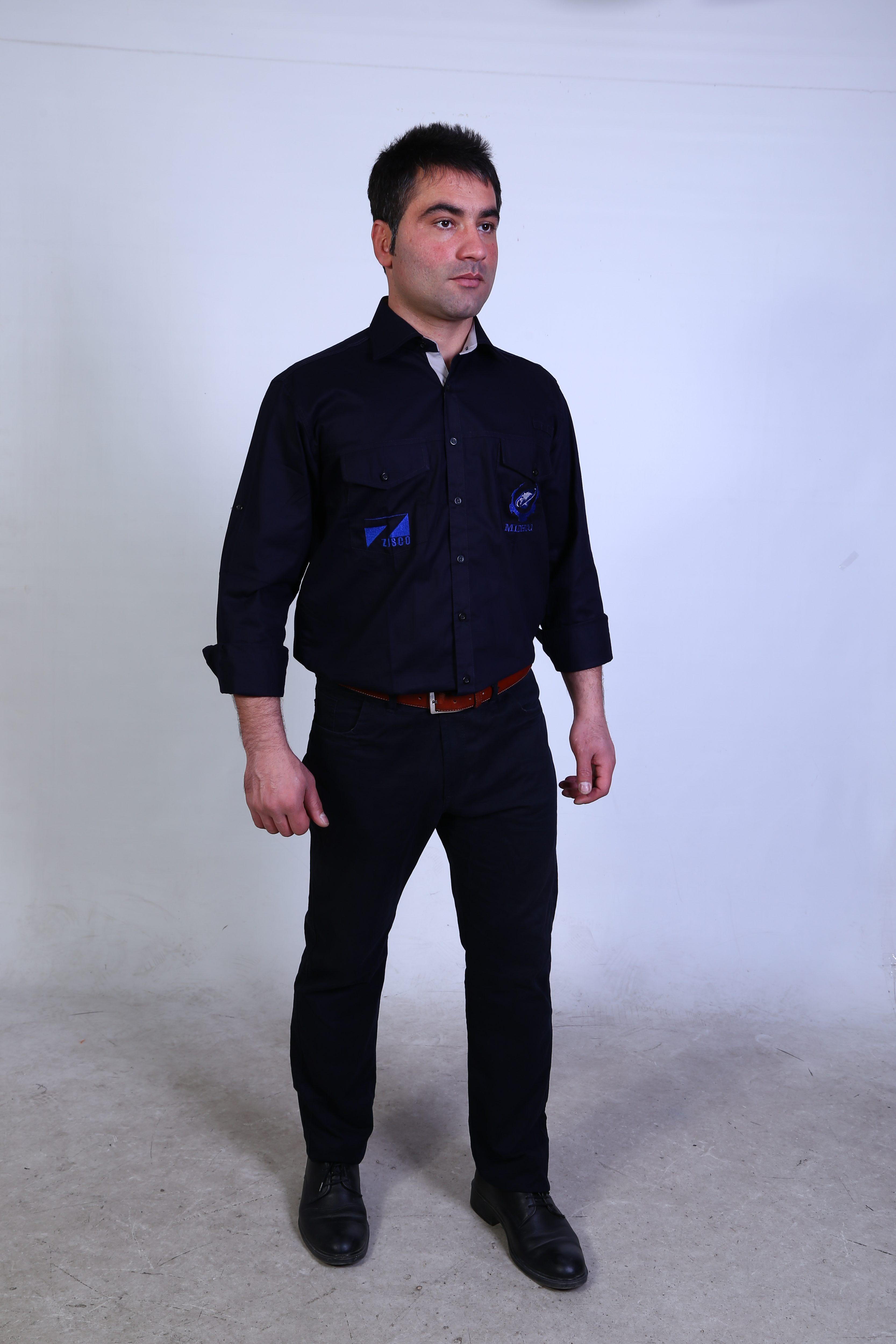 پیراهن دو جیب درب دار